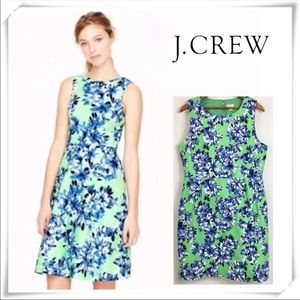 J.crew green and blue floral dress